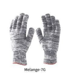 Poly Cotton Knitted Seamless Glove