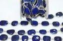 Lapis Lazuli Bezel Set Gemstone Connector Chain