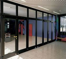 Aluminium Hinged Shop Front Door and Partitions
