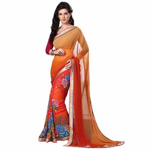 dlines peach colored printed half saree mastani d lines