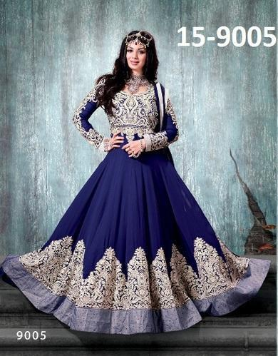Anarkali Salwar Kameez - Heavy Long Anarkali Designer Suit Fancy ...