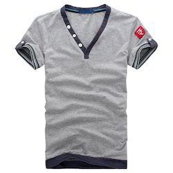 Half Sleeve Cotton Men''S Casual T-Shirt