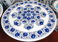 Marble Inlay Semi Precious Stone Table Top
