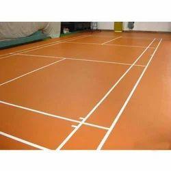 Outdoor PU / PVC Flooring Badminton PVC Vinyl Flooring