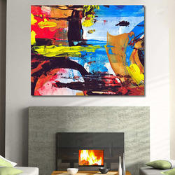 Abstract Collage Wall Mural