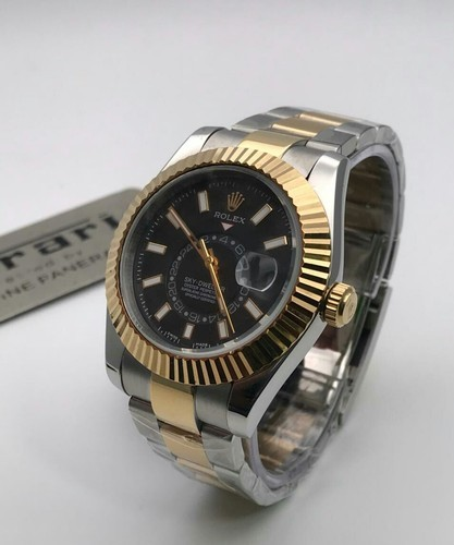 c3fc73d3e45 Silver And Golden Rolex Sky Dweller Watches