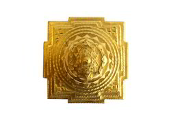 Gold Leafing on Shree Yantra