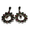 Sterling Silver Multi Tourmaline Gemstone Earring