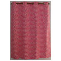 Cotton Multicolor Eyelet Curtain, For Door, Size: 120x240 Cms