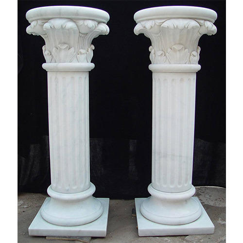 Indian Stone Pillar White Marble Pillar Manufacturer From Jaipur