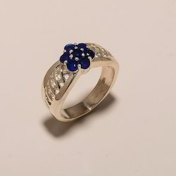 R0045- Sterling Silver Jewelry Sapphire Ring 6.83