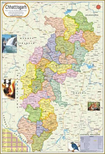 Chhattisgarh map at rs 110 piece political state maps id chhattisgarh map gumiabroncs Choice Image