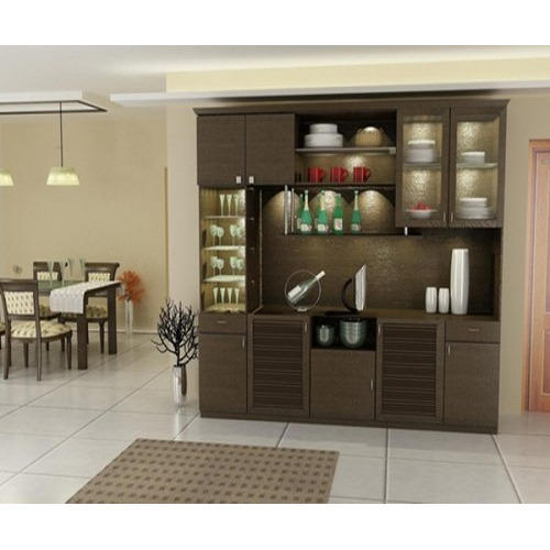 Designer Crockery Cabinet at Rs 850/square feet | Crockery ...