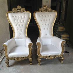 Royal Silver Wedding Chair (Thrones)