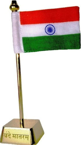 indian flag gold plated table top car home decor at rs 89 piece