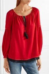 Red Designer Tops