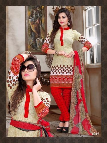 6c5d0d2af0 Printed Dress Material - Trendy Cambric Cotton Zarkash Vol 4 Dress Material  Manufacturer from Surat