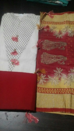 Chanderi Party Wear Semistitched Suits