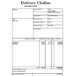 Paper Challan Book Printing Service, in Local