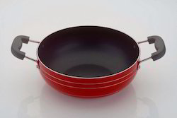 Aluminum Non-Stick Ceramic Green Indian Kadhai Size 200 MM