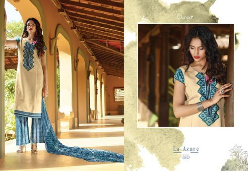 7b1f1bbaca LA Azure - Cotton Remi Fabric Designer Ladies Wear Salwar Suit GE-4041  Manufacturer from Surat