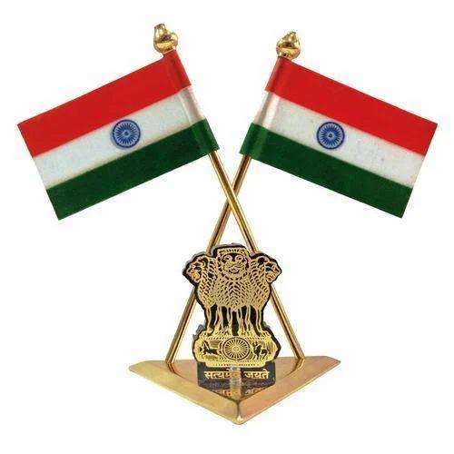 Car Dashboard Indian National Flag Satyamev Jayate Symbol Custom