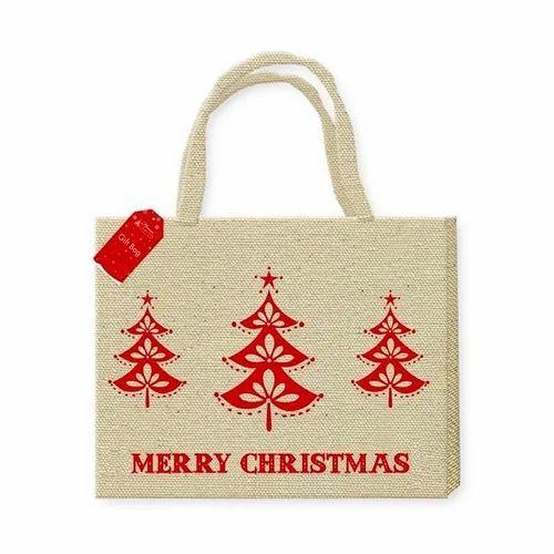 Christmas Bags.Christmas Jute Bag