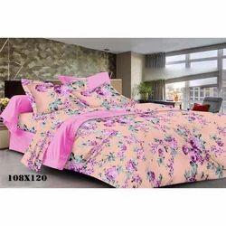 108x120 Inch Flower Print Cotton Bed Sheet