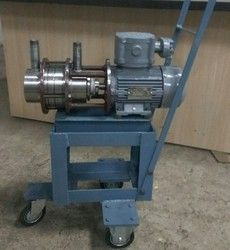 Samarth Stainless Steel SS Pump for Barrel Application with Trolley, No Of Wheels: 4, Model Name/Number: SSP 025