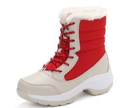 Red Women Snow Boot
