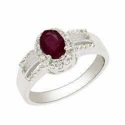 SHRI0114 Ruby 925 Silver Ring