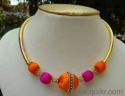 Orange With Pink Necklace