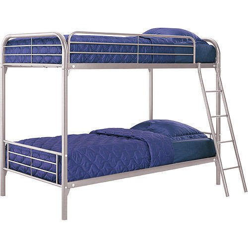 Chameza Polished Metal Bunk Bed, for Hostel, Double Bed