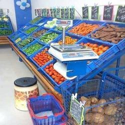 Supermarket Vegetable And Fruit Racks