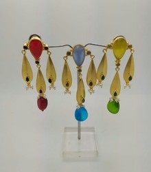 Hanging Stone Color Full Earring