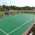 Asian Flooring Green Synthetic Volleyball Court Flooring, For Outdoor