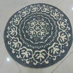 Printed Round Jute Braided Rugs