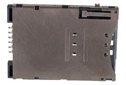 6Pin Sim Card Holder Metal Push Push Type