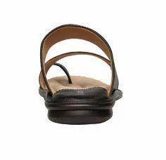 Bata Black Men Leather Slipper