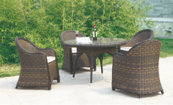 Tough Style Outdoor Wicker Coffee Set