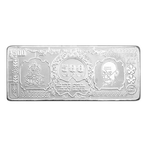 500 Gm Silver Note Chandi Ke Note Boot Bhavani