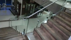Stainless Steel with Glass Railing