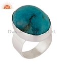 Turquoise Natural Gemstone 925 Sterling Silver Men's Rings