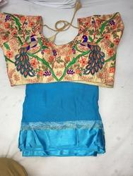 Peacock Embroidery Design Stitched Blouse