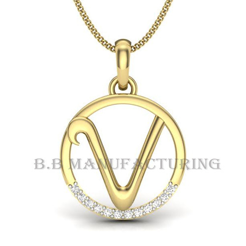 14k gold alphabet v letter v diamond alphabet pendant at rs 5000 14k gold alphabet v letter v diamond alphabet pendant aloadofball Image collections