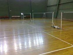 Asian Flooring Wooden Flooring Teak Wood Badminton Court Flooring