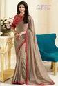 Georgette Party Wear Designer Saree, Machine