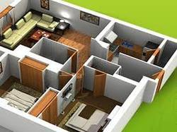 Lovely 2BHK Flat Designing Services