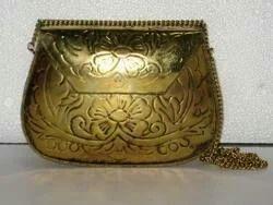 Ladies Handicraft Metal Bag