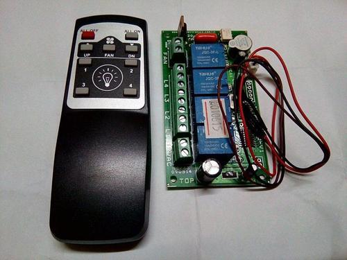 Ir Remote Control 4 Light And 1 Fan Speed Control